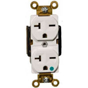 Morris Products 82261, Hospital Grade Duplex Receptacle White 20A-250V