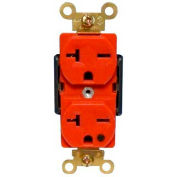 Morris Products 82263, Hospital Grade Duplex Receptacle Red 20A-250V
