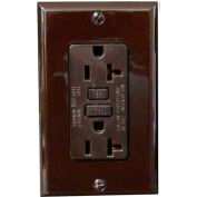 Morris Products 82342, Ground Fault Circuit Interrupter with Wallplate Brown 20A