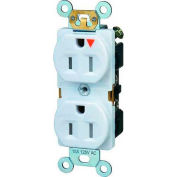 Morris Products 82446, Tamper Resistant Isolated Ground Duplex Receptacles 15A 125V White