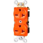 Morris Products 82454, Tamper Resistant Isolated Ground Duplex Receptacles 20A 125V Orange