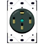 Morris Products 82526, Flush Range Receptacle 50A Black