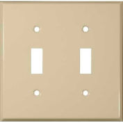 Morris Products 83023, Painted Steel Wall Plates 2 Gang Toggle Switch Ivory