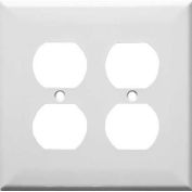 Morris Products 83222, Painted Steel Wall Plates 2 Gang Duplex Receptacle White