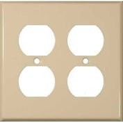 Morris Products 83223, Painted Steel Wall Plates 2 Gang Duplex Receptacle Ivory