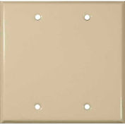 Morris Products 83323, Painted Steel Wall Plates 2 Gang Blank Ivory