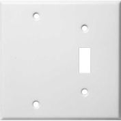 Morris Products 83412, Painted Steel Wall Plates 2 Gang 1 Toggle 1 Blank White