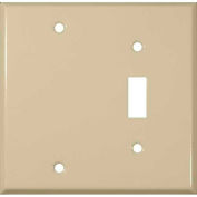 Morris Products 83413, Painted Steel Wall Plates 2 Gang 1 Toggle 1 Blank Ivory