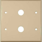 "Morris Products 83473, Painted Steel Wall Plates 2 Gang Cable .625"" Hole Dia. Ivory"