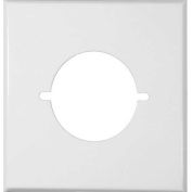 Morris Products 83487, Painted Steel Wall Plates 2 Gang Range/Dryer White