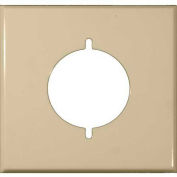 Morris Products 83488, Painted Steel Wall Plates 2 Gang Range/Dryer Ivory