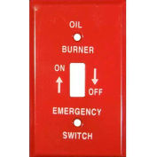 Morris Products 83491, Emergency Metal Switch Plates 1 Gang Oil