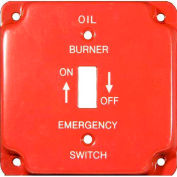 "Morris Products 83492, Emergency Metal Switch Plates 4"" Raised Oil"