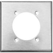 Morris Products 83505, 430 Stainless Steel Wall Plates 2 Gang Power Outlet