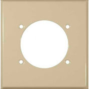 Morris Products 83508, Painted Steel Wall Plates 2 Gang Power Outlet Ivory