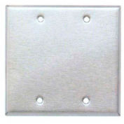 Morris Products 83842, 304 Stainless Steel Wall Plates 2 Gang Blank