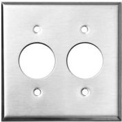 "Morris Products 83855, 304 Stainless Steel Wall Plates 2 Gang 2 Single Receptacle 1.406"" Hole Dia."