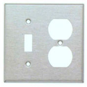 Morris Products 83859, 304 Stainless Steel Wall Plates 2 Gang 1 Toggle 1 Duplex