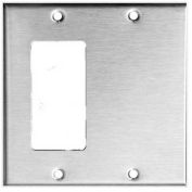Morris Products 83863, 304 Stainless Steel Wall Plates 2 Gang 1 GFCI 1 Blank