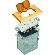 Morris Products 84000, Residential Floor Boxes Hinged Lid Brass