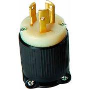 Morris Products 89731, Twist Lock Male Plugs 2 Pole 3 Wire 15A 250VAC