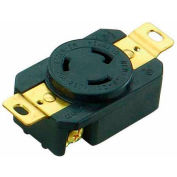 Morris Products 89738, Twist Lock Wall Mount Receptacles - 2 Pole 3 Wire  20A 250V