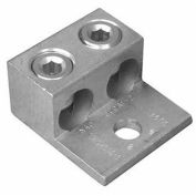 Morris Products 90818, Aluminum Mechanical Lugs Two Conductors - One Hole Mount 350MCM-#6 Awg