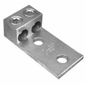 Morris Products 90844, Aluminum Mechanical Lugs Two Conductors - Two Hole Mount 600MCM-#2 Awg