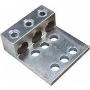 Morris Products 90862, Alum. Mechanical Lugs Three Conductors - Two&Four Hole Mount 1000MCM-500MCM