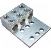 Morris Products 90961, Aluminum Mechanical Lugs 3 Conductors - Two & Four Hole Mount 600MCM-#4 Awg
