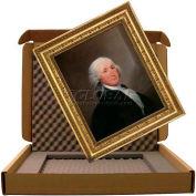 "Masterpak Art Shipping Box, Puncture-Guard Lined, 4235-4L, 39""L x 32""W x 3""D Max Frame, 350 Lb DW"
