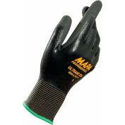 MAPA® Ultrane 526 Grip & Proof Nitrile Fully Coated Gloves, Lt Weight, 1 Pair, Size 10, 526410