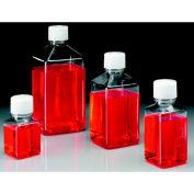Thermo Scientific Nalgene™ Square PET Media Bottles, Sterile, Tray Pack, 125mL, Case of 96