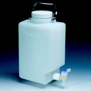 Thermo Scientific Nalgene™ Rectangular Fluorinated HDPE Carboy with Spigot, 20L, 1 Each