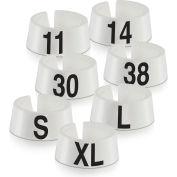 "60 Classic Marker, 3/4"", White W/Black Print, 25/Pack"