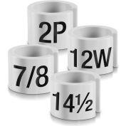"""14P Mini Marker, 1/2"""", Off White W/Black Print, 100/Pack"""