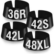 "42S Classic Marker, 3/4"", Black W/White Print, 25/Pack"