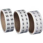 """XXXL   Clear Labels w/Black Print 1/2"""" Circle  1000/Roll"""