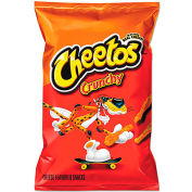 Cheetos Crunchy Cheese-Flavored Snack, Resealable Lid, 4.25 Oz, 12/Carton