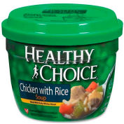 Healthy Choice Microwavable Soup, Chicken Rice, 14 Oz, 12/Carton