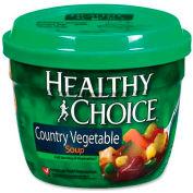 Healthy Choice Microwavable Soup, Country Vegetable, 14 Oz, 12/Carton