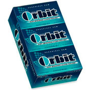 Wrigley Orbit Chewing Gum, Peppermint, 14 Pieces/Pack, 12/Box