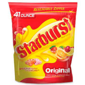 Starburst Original Fruit Chews Candy, Assorted Flavors, 41 Oz, 6/Bag