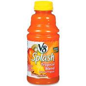 Campbell's V8 Splash Fruit Juice, Tropical Blend, 16 Oz, 12/Carton