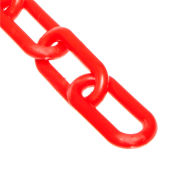 "Plastic Chain - 1-1/2"" Links - Red - 100 Feet - Trade Size 6"