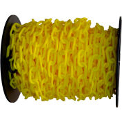 "Plastic Chain - 1-1/2"" Links - On A Reel - Yellow - 200 Feet - Trade Size 6"