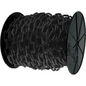 "Plastic Chain - 1-1/2"" Links - On A Reel - Black - 200 Feet - Trade Size 6"