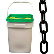 "Plastic Chain - 2"" Links - In A Pail - Black - 160 Feet"