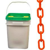 "Plastic Chain - 2"" Links - In A Pail - Orange - 160 Feet"