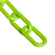 "Plastic Chain - 2"" Links - Safety Green - 100 Feet - Trade Size 8"